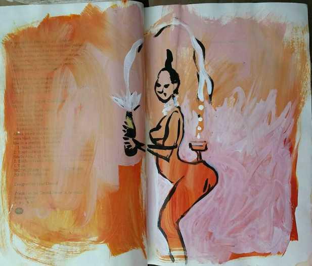 E. Tilly Strauss, Kim Kardashian Sketch, 2016