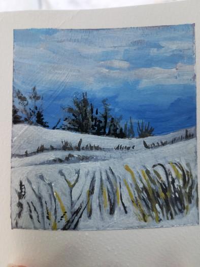 E. Tilly Strauss, Snow Fields, 2019