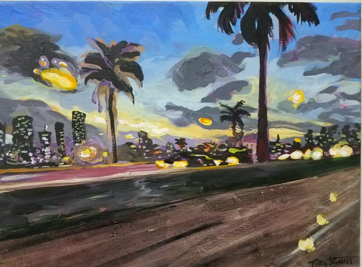 E. Tilly Strauss, McArther Parkway Dusk, 2017
