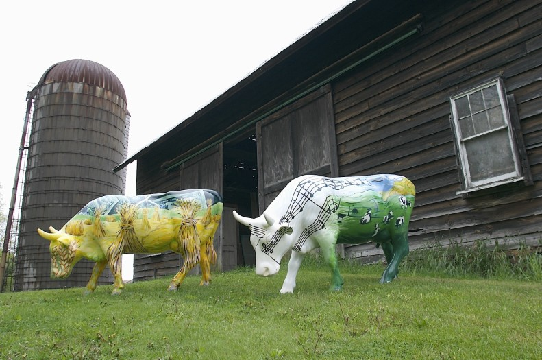 E. Tilly Strauss, Two cows, 2006