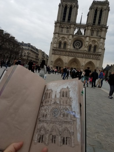 E. Tilly Strauss, Sketching in Paris, 2018