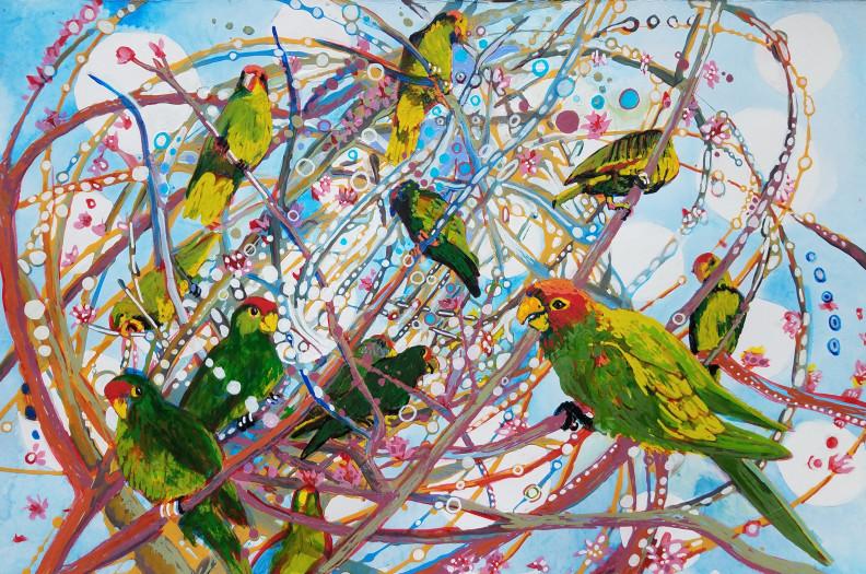 E. Tilly Strauss, Parrot Bramble, 2019