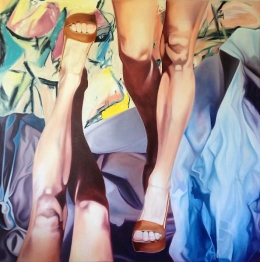 Michelle Brandley, Woman, Woman, 2014, oil on canvas, 60 x 60