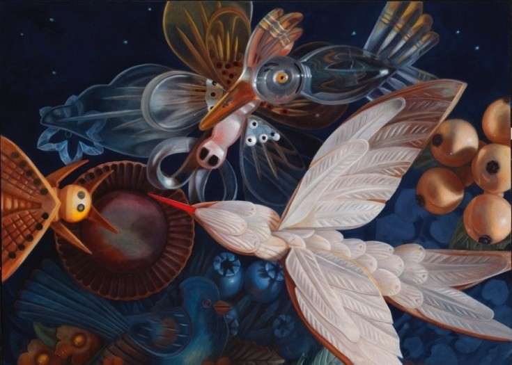 Ann Ekstrom, Night Bloomer, Oil Painting.