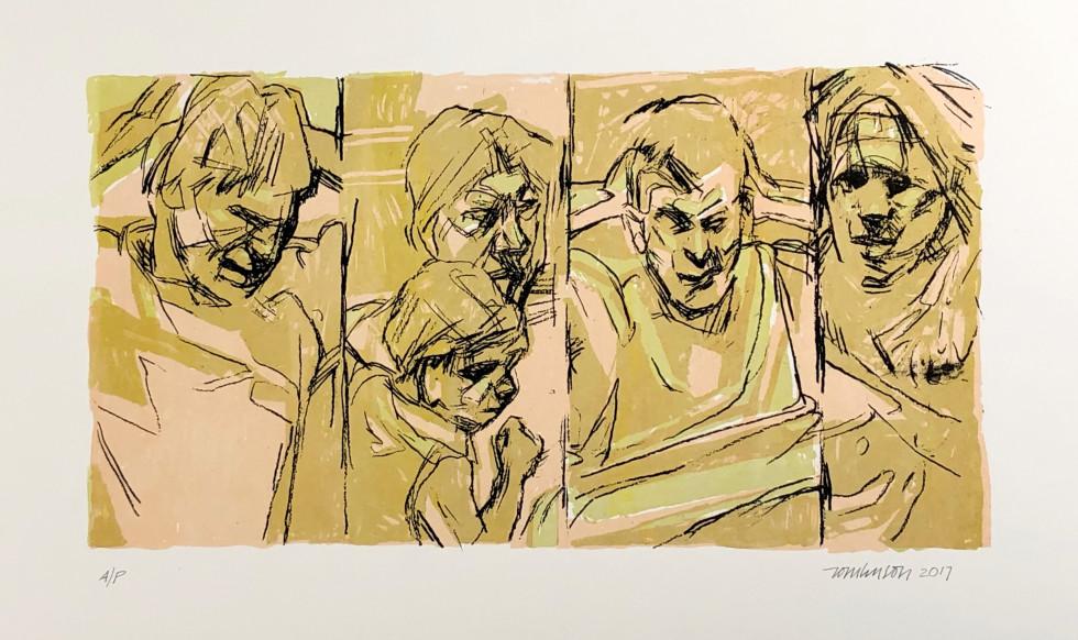 Ron Tomlinson, Border Lines (Variation IX), 2017