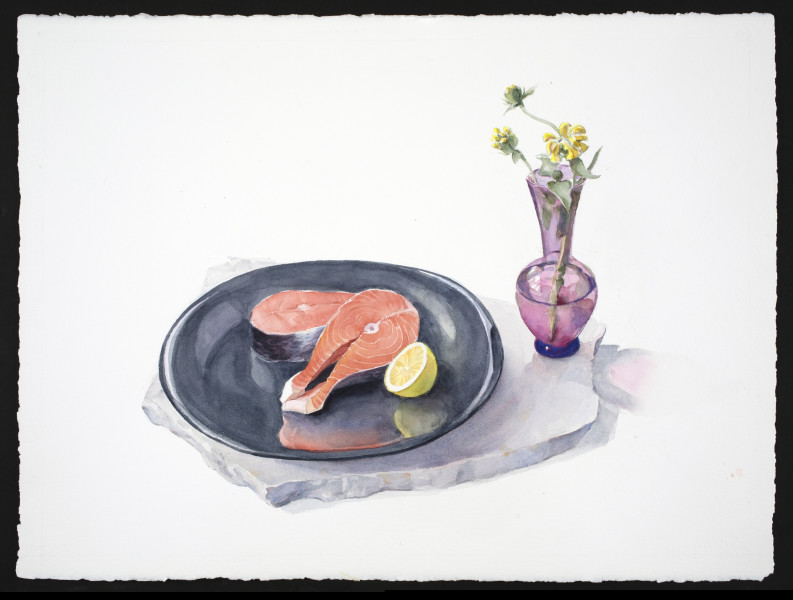 Carol Ivey, Salmon with Jerusalem Sage, 2019