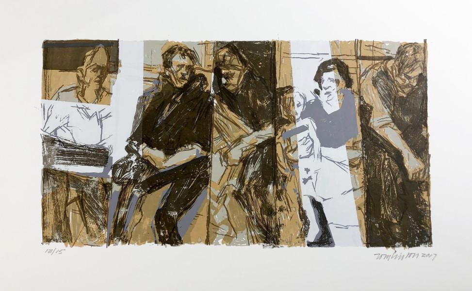 Ron Tomlinson, Border Lines (Variation VI), 2017
