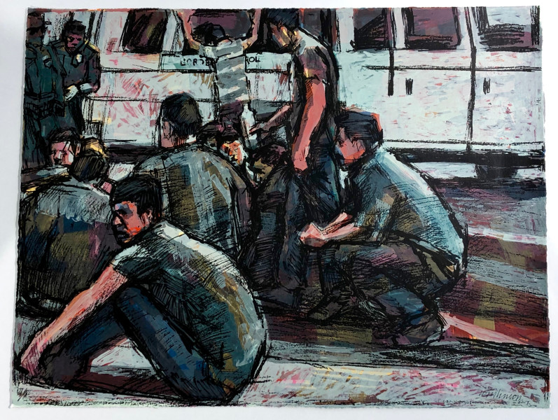 Ron Tomlinson, Reynosa (Grey), 2017