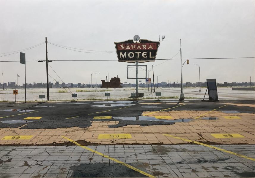 Daniel Blagg, Oasis (Sahara Motel), 2017