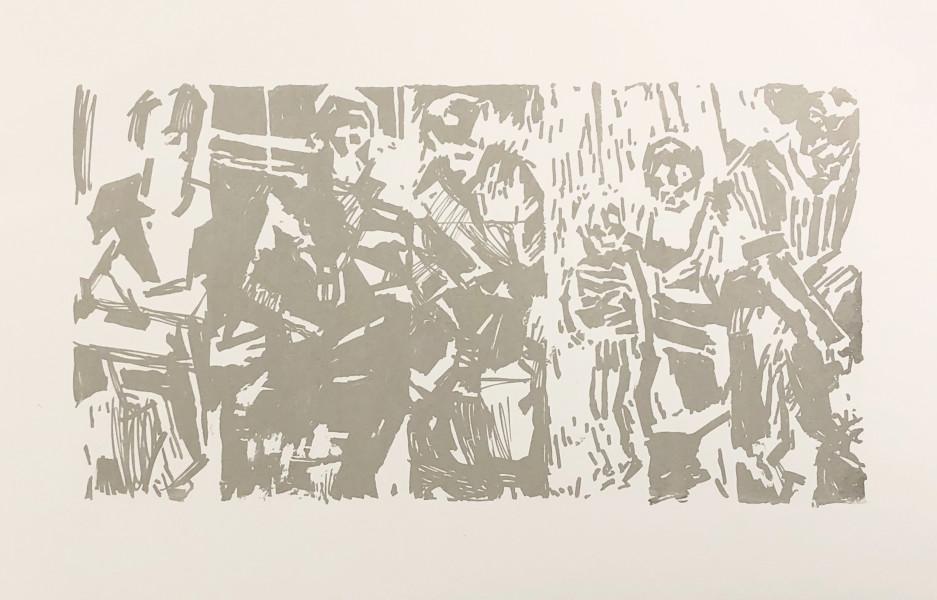 Ron Tomlinson, Border Lines (Variation I), 2017