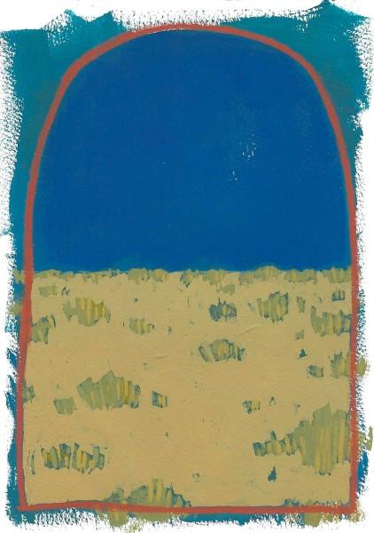 Layla Luna, Mini Desert Painting #01 (Crescent Moon), 2018