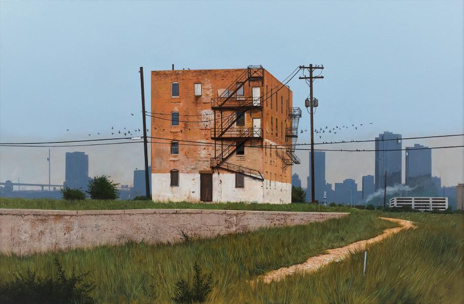 <span class=&#34;artist&#34;><strong>Daniel Blagg</strong></span>, <span class=&#34;title&#34;><em>The Edge of Town</em>, 2017</span>