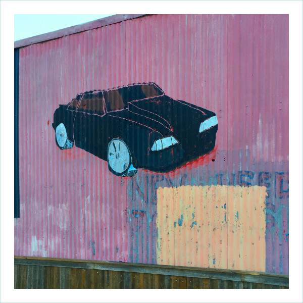 William Greiner, Car Mural Panther Island, Fort Worth TX, 2018