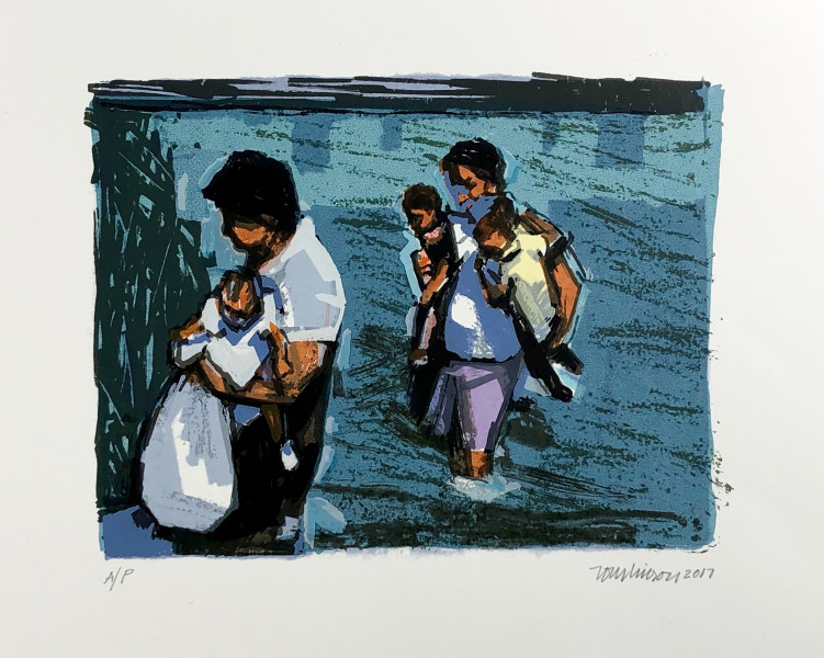 <span class=&#34;artist&#34;><strong>Ron Tomlinson</strong></span>, <span class=&#34;title&#34;><em>Mother's Crossing</em>, 2017</span>