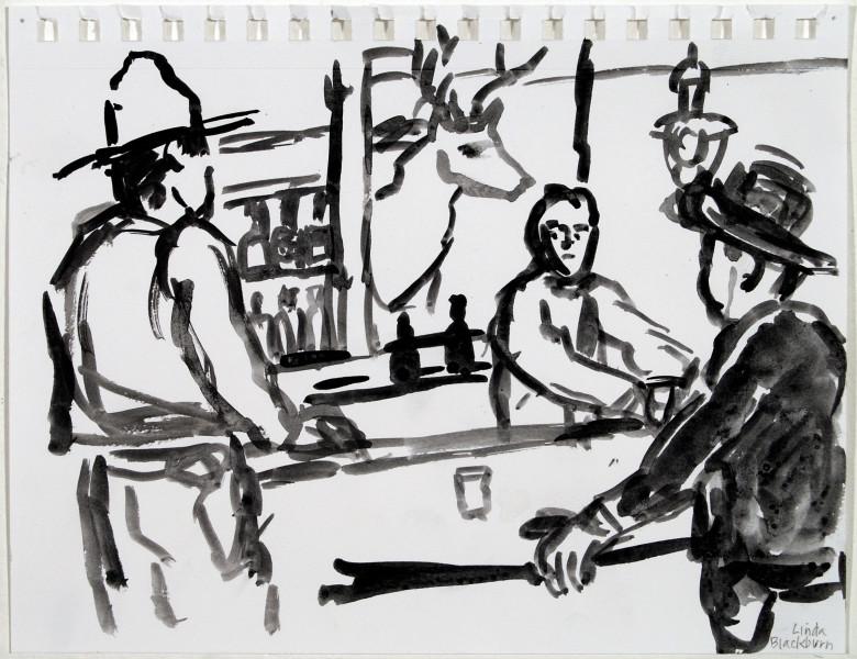 <span class=&#34;artist&#34;><strong>Linda Blackburn</strong></span>, <span class=&#34;title&#34;><em>Bartender</em>, 2014</span>