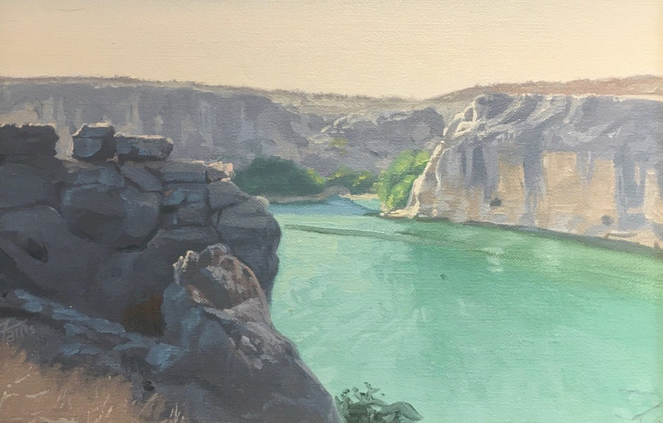 Dennis Farris, Mouth of the Pecos River (Study)