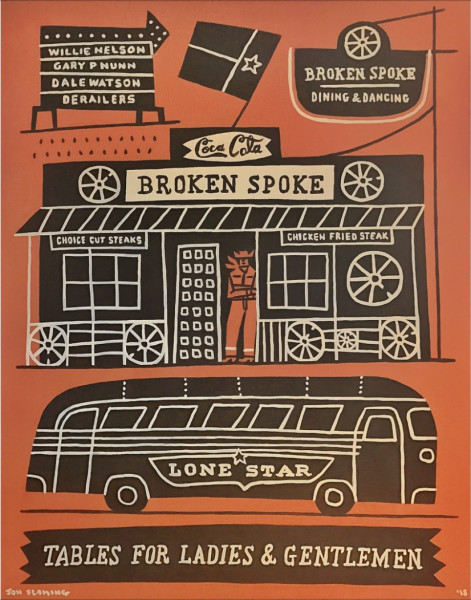 Jon Flaming, Broken Spoke, 2018