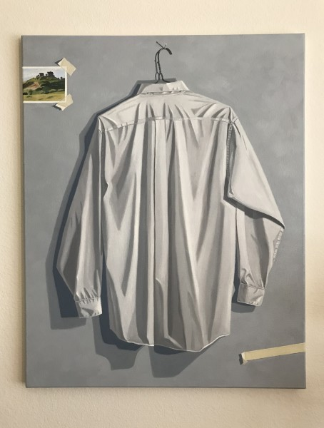 Mike Geglia, White Shirt and Hopper Postcard, 2019
