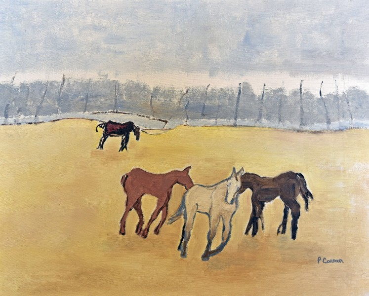 <span class=&#34;artist&#34;><strong>Patricia Cowan</strong></span>, <span class=&#34;title&#34;><em>Mustangs</em>, 2018</span>