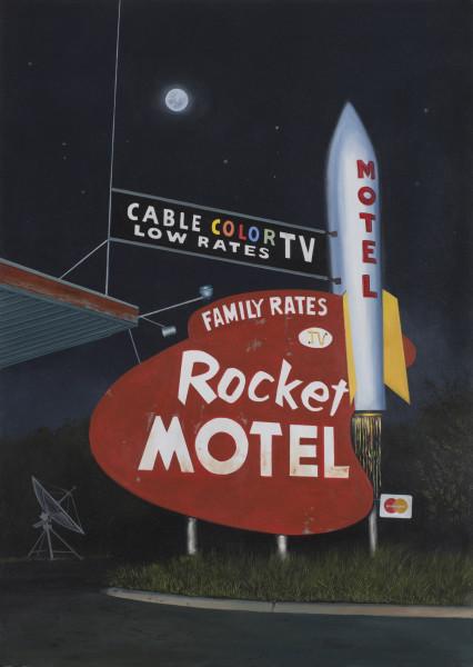 <span class=&#34;artist&#34;><strong>Daniel Blagg</strong></span>, <span class=&#34;title&#34;><em>Rocket Motel</em>, 2016</span>