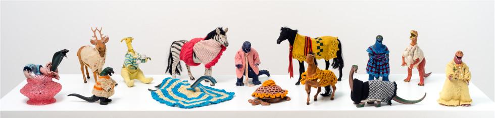 Feliciano CENTURIÓN, Selection of plastic toy 'Familia' series , c.1990