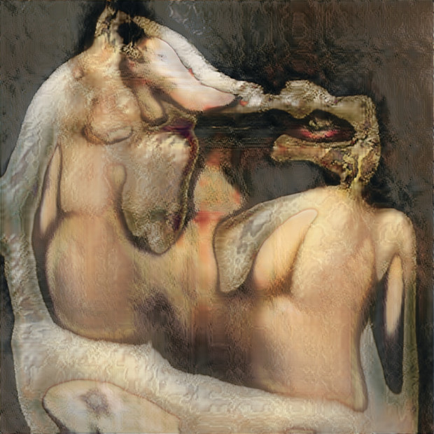 Robbie Barrat, Nude Portraits (The Kiss), 2019
