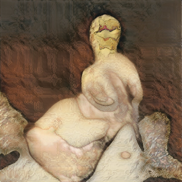 Robbie Barrat, Nude Portraits (Seated Nude), 2019