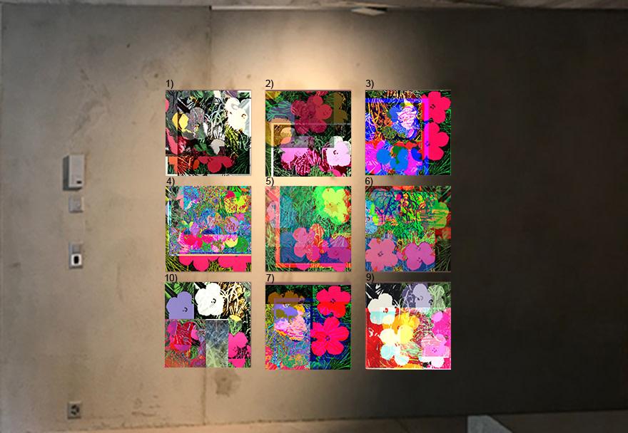 Cornelia Sollfrank, 9 anonymous_warhol-flowers, 2018- 2019