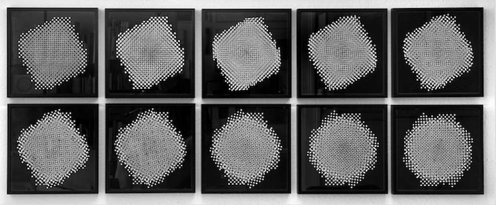 Gottfried Jäger, Ten pinhole structures, D 3.1-3.9, 1967 / 1994