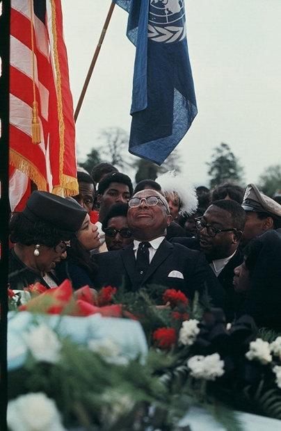 Howard L. Bingham Martin Luther King, Sr. at his son's funeral, Atlanta chromogenic print 26 x 36 inches