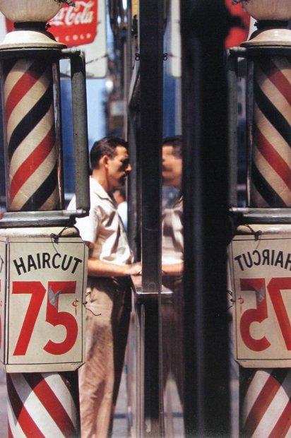 Saul Leiter Haircut chromogenic print 14 x 11 inches35.6 x 27.9 cms