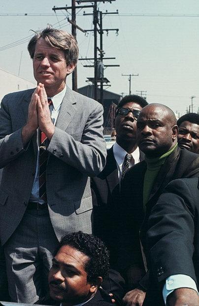 Howard L. Bingham Bobby Kennedy on the Presidential Campaign, Watts, California chromogenic print 26 x 36 inches