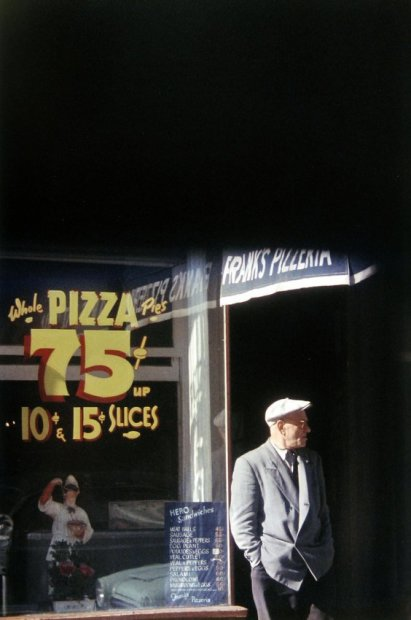 Saul Leiter Pizza Paterson chromogenic print 14 x 11 inches35.6 x 27.9 cms