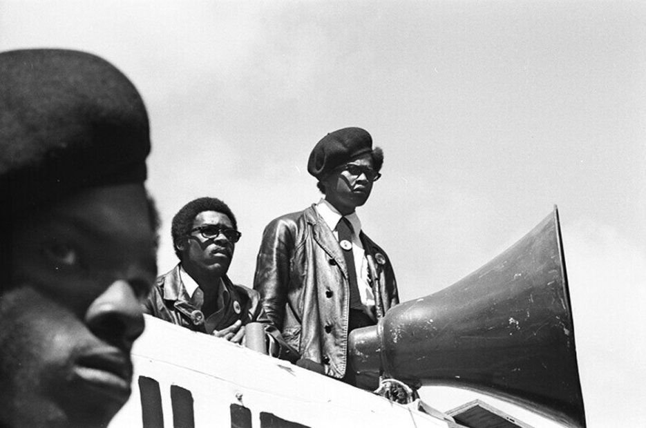Howard L. Bingham Black Panther Rally #1, Oakland gelatin silver print 20 x 24 inches