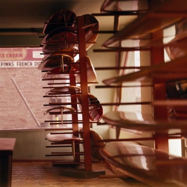 LeRoy Grannis Greg Noll Surf Shop Display Room, Hermosa Beach chromogenic print paper size: 36 x 36 inchesimage size: 30...