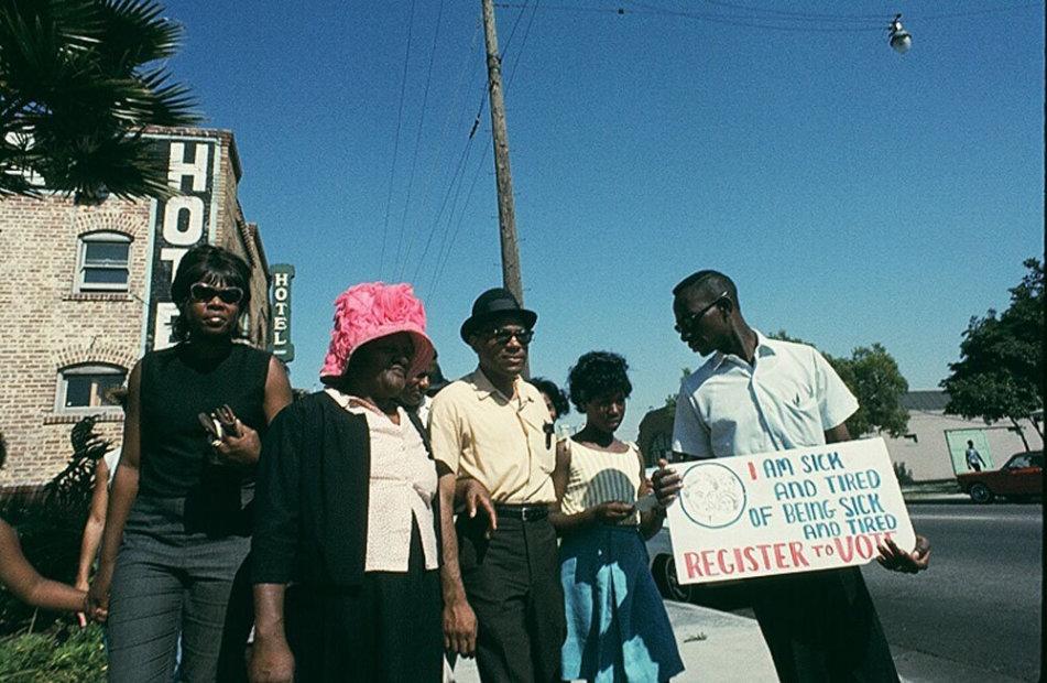 Howard L. Bingham James Meredith, Mississippi Civil Rights March chromogenic print 26 x 36 inches