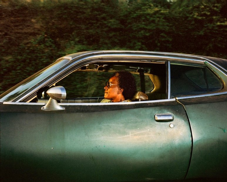 Andrew Bush Person driving somewhere in the last decade of the previous millennium (whereabouts unknown) chromogenic print 30 x 37-3/8...