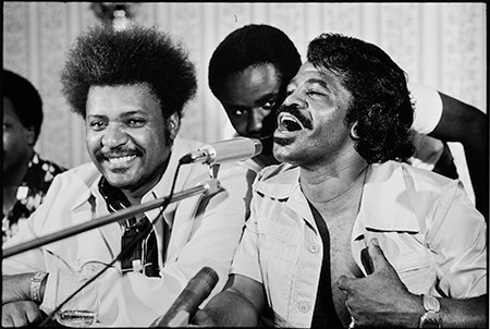 Howard L. Bingham Don King and James Brown, Zaire #BW10 gelatin silver print 20 x 24 inches