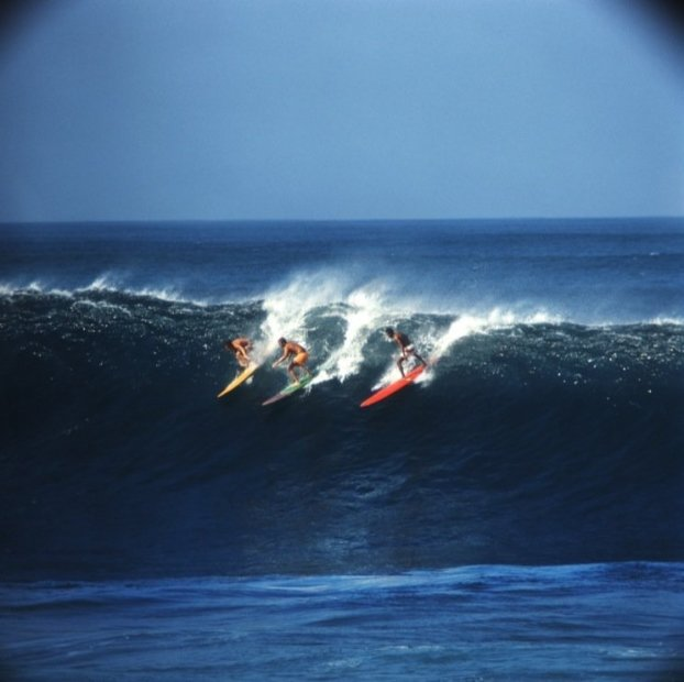 LeRoy Grannis Waimea Bay (No. 61) chromogenic print paper size: 36 x 36 inchesimage size: 30 x 30 inches