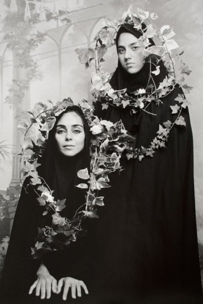 """Shirin Neshat Unititled (from """"Women of Allah"""" series) silver gelatin print 20 x 24 inches"""