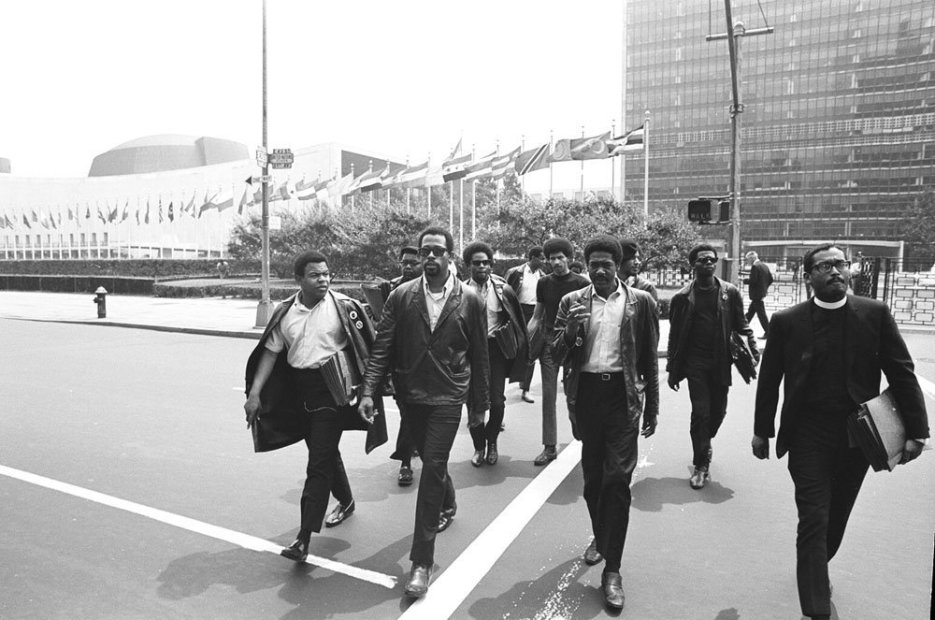 Howard L. Bingham Black Panthers at the UN, New York gelatin silver print 20 x 24 inches