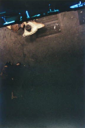 Saul Leiter Looking Down fujicolor crystal archive print 14 x 11 inches35.6 x 27.9 cms
