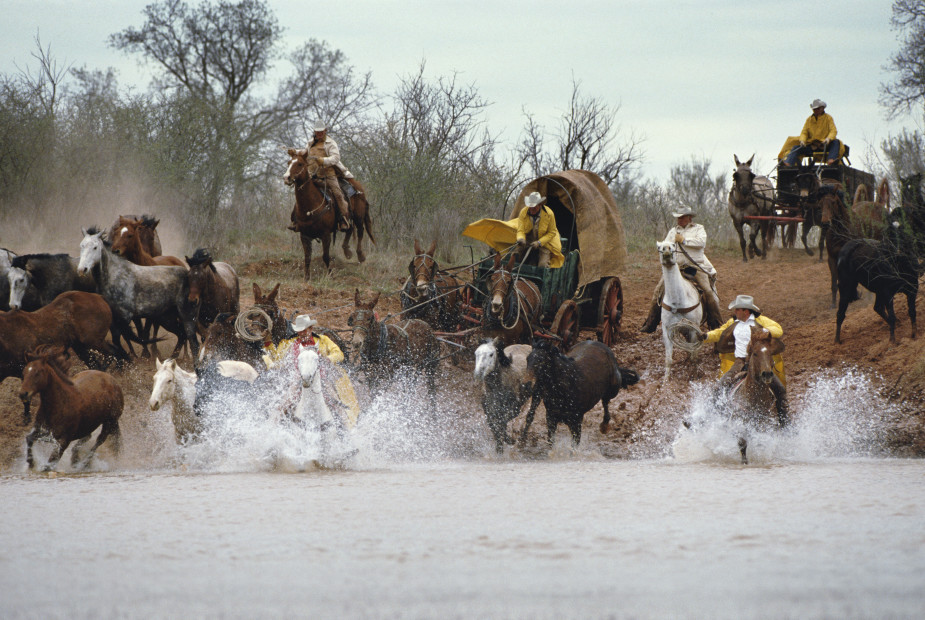 Norm Clasen, River Charge, Seymour, TX,, 1987