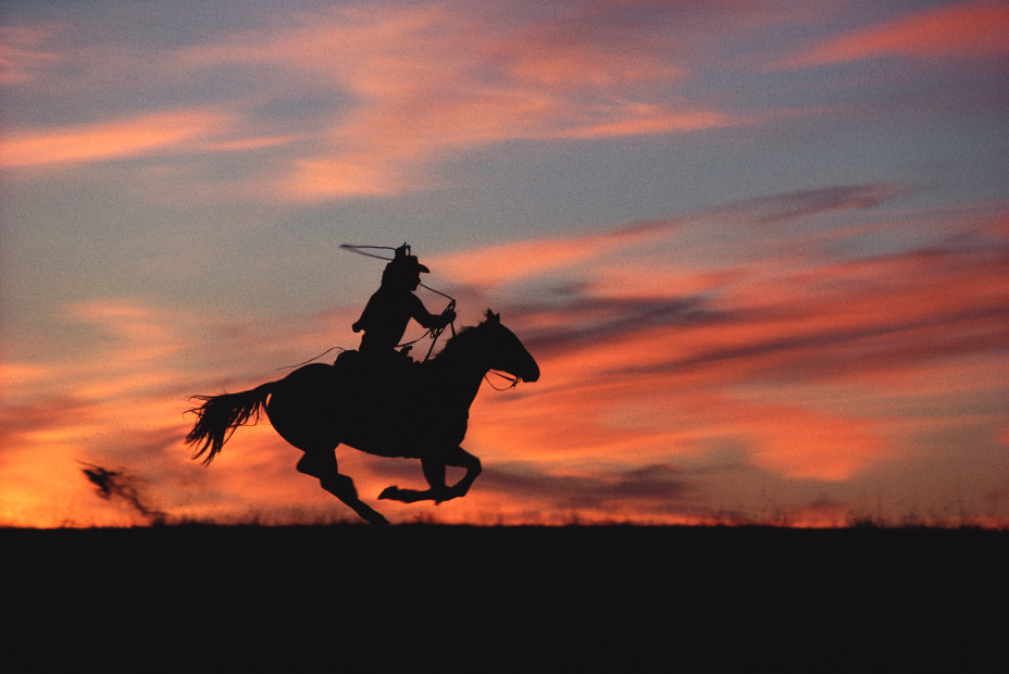 Norm Clasen, Sunset Chase, Riverton, WY, 1985