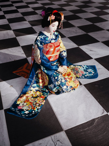 The Love Doll / Day 32 (Blue Geisha, Black & White Room), 2011