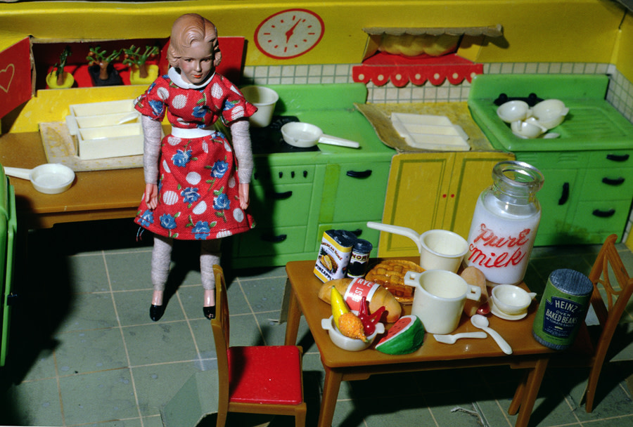 Blonde/Red Dress/Kitchen/Milk, 1978
