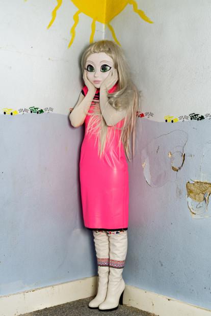 Blonde/Pink Dress/Standing Corner, 2014