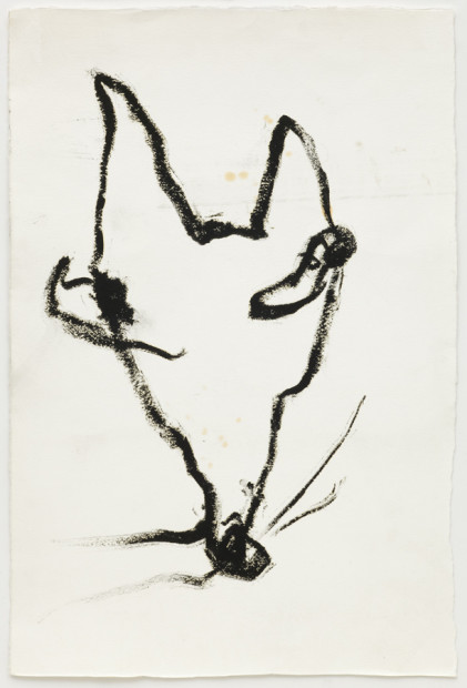 Dog Drawing I. From a performance with Robert Ashley, La MaMa, New York, 2009