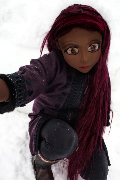 Purple Hair/Purple Coat/Snow, 2014