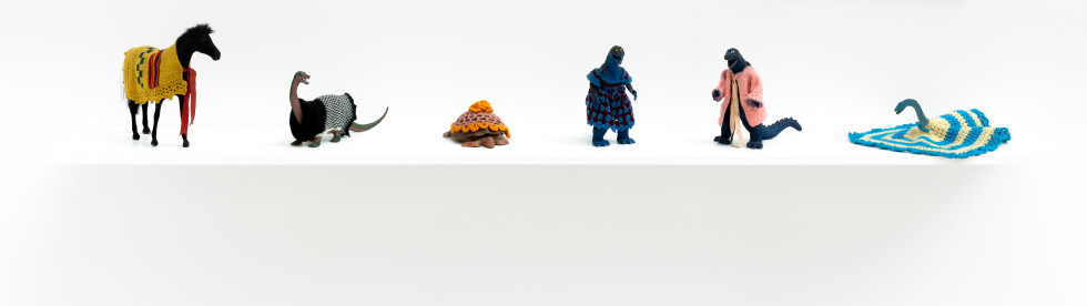 Feliciano CENTURIÓN, Selection of plastic toys from 'Familia' [Family] series , c.1990